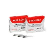 Эндонидл (20 шт) - эндодонтические иглы (0,3 мм х 38 мм), 0001063