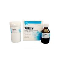 Цинк-фосфатный цемент Уницем (порошок - 100 г, жидкость - 60 г, белый), 0001434