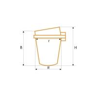 Тигель керамического типа ФОРНАКС с крышкой, 0001505