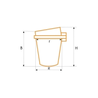 Тигель керамического типа ДАКО, 0001522