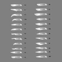 Лезвия стерильные №15 (100 шт.), 000529